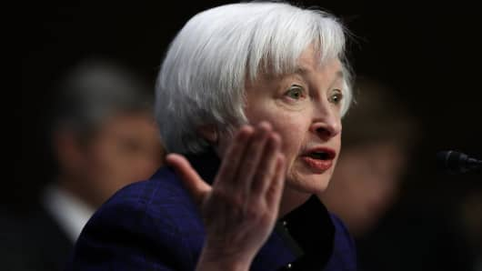 Federal Reserve Board Chairwoman Janet Yellen testifies before the Joint Economic Committee on Capitol Hill November 17, 2016 in Washington, DC.