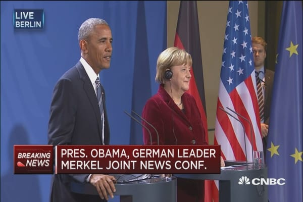 Obama: Merkel has been an outstanding partner