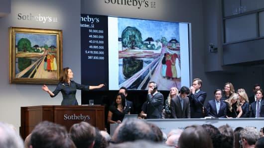 Sotheby's Impressionist & Modern Art Evening Sale in New York.