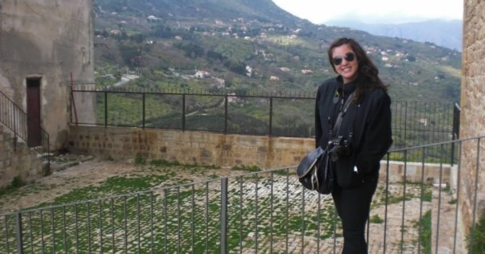The author in 2009 on a university trip to Italy