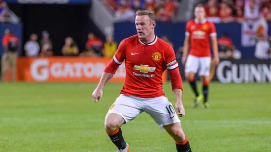 Manchester United forward Wayne Rooney.