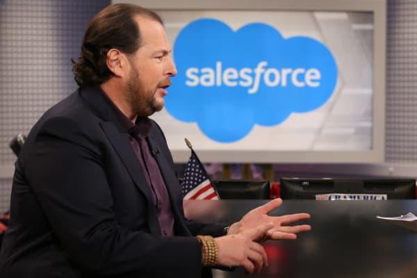 Marc Benioff, CEO of SalesForce.