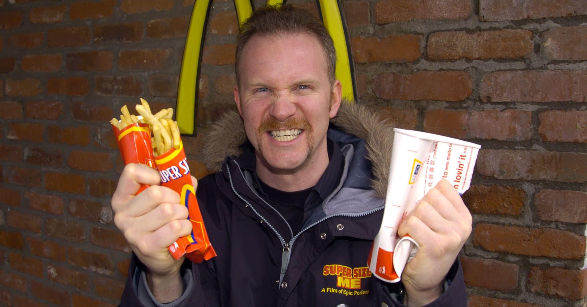 Super Size Me Star Morgan Spurlock Opening Fast Food