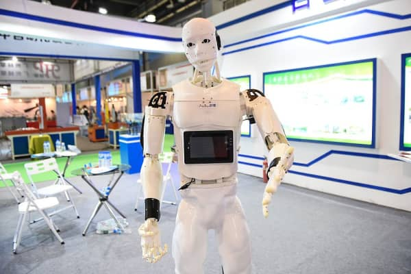 A robot at the International Robotics Exhibition in Guangzhou, China.