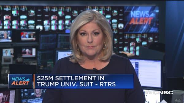 $25M settlement in Trump University suit: Reuters