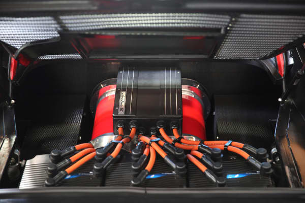 Batteries in the converted electric 1978 Ferrari 308 GTS