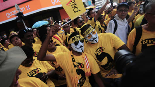 Protesters in the Bersih 5.0 rally on Nov 19, 2016 demanded Prime Minister Najib Razak to step down and called for fair elections.