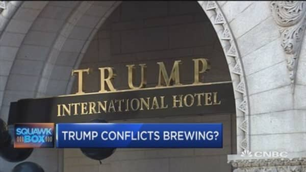 Trump conflicts brewing?