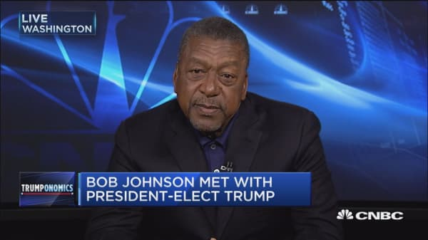 We focused on the business issues: Bob Johnson on Trump meeting