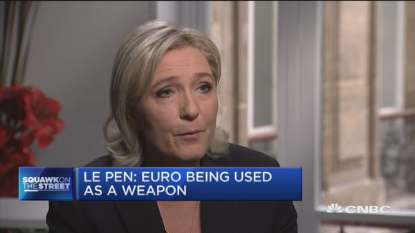 Le Pen: Euro is an economic failure