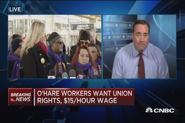 O'hare workers plan strike for November 29th