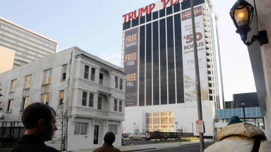 In this 2011 file photo, The Vera Coking house next to Trump Plaza in Atlantic City. The house was the focus of a prominent eminent domain case involving Donald Trump.