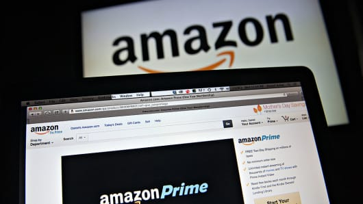 The Amazon.com Inc. Prime logo is displayed on computer screens for a photograph in Tiskilwa, Illinois, U.S.