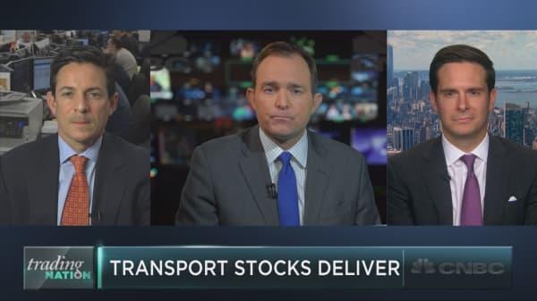 Transportation stocks deliver