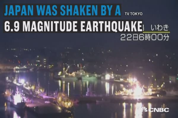 Japan shaken by 6.9 magnitude earthquake