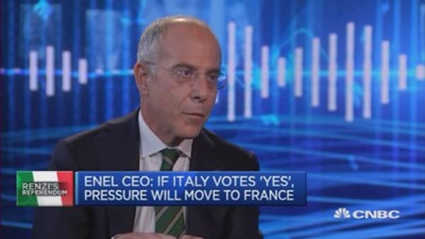 Italian referendum acts like a 'meta reform': Enel CEO