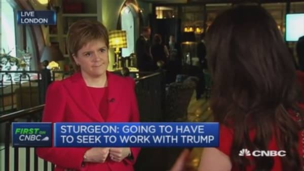 Have to see the reality of President Trump: Nicola Sturgeon