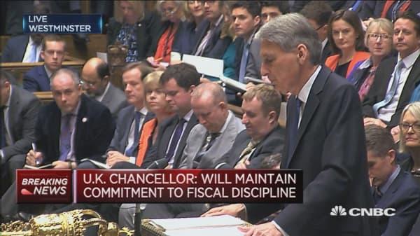 UK economy no longer to deliver surplus in 2020