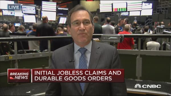 Jobless claims up 18K to 251,000 & October durable goods up 4.8%
