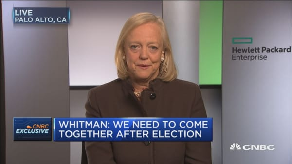 HPE's Whitman: I'm supporting the president