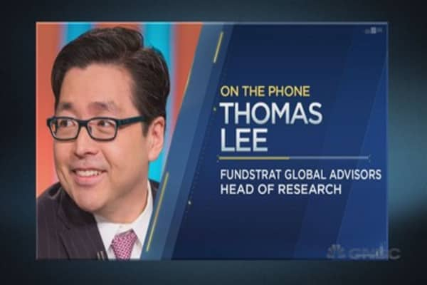 Tom Lee: Here's what history says about what stocks will do next