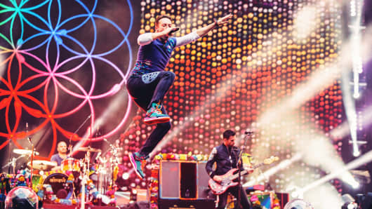 How Coldplay, a band that says rock is 'done', grossed $500
