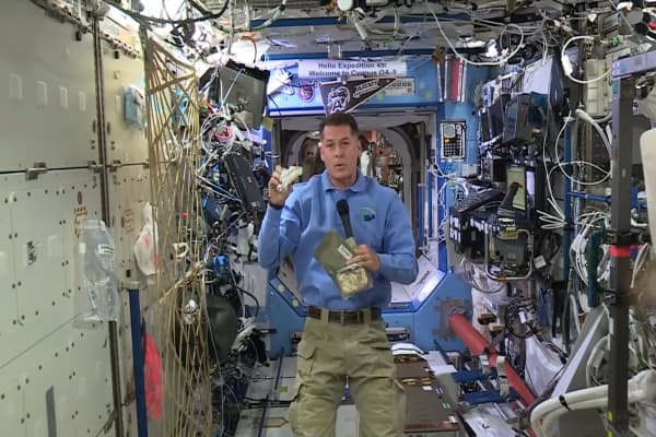 Here's whats on the menu at the International Space Station