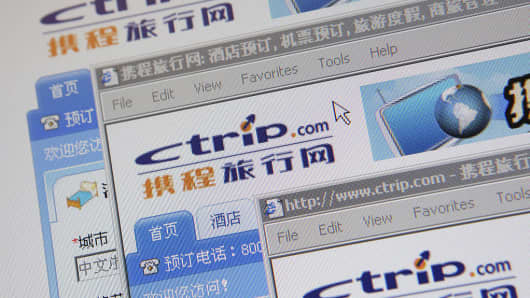 The Ctrip.com International website