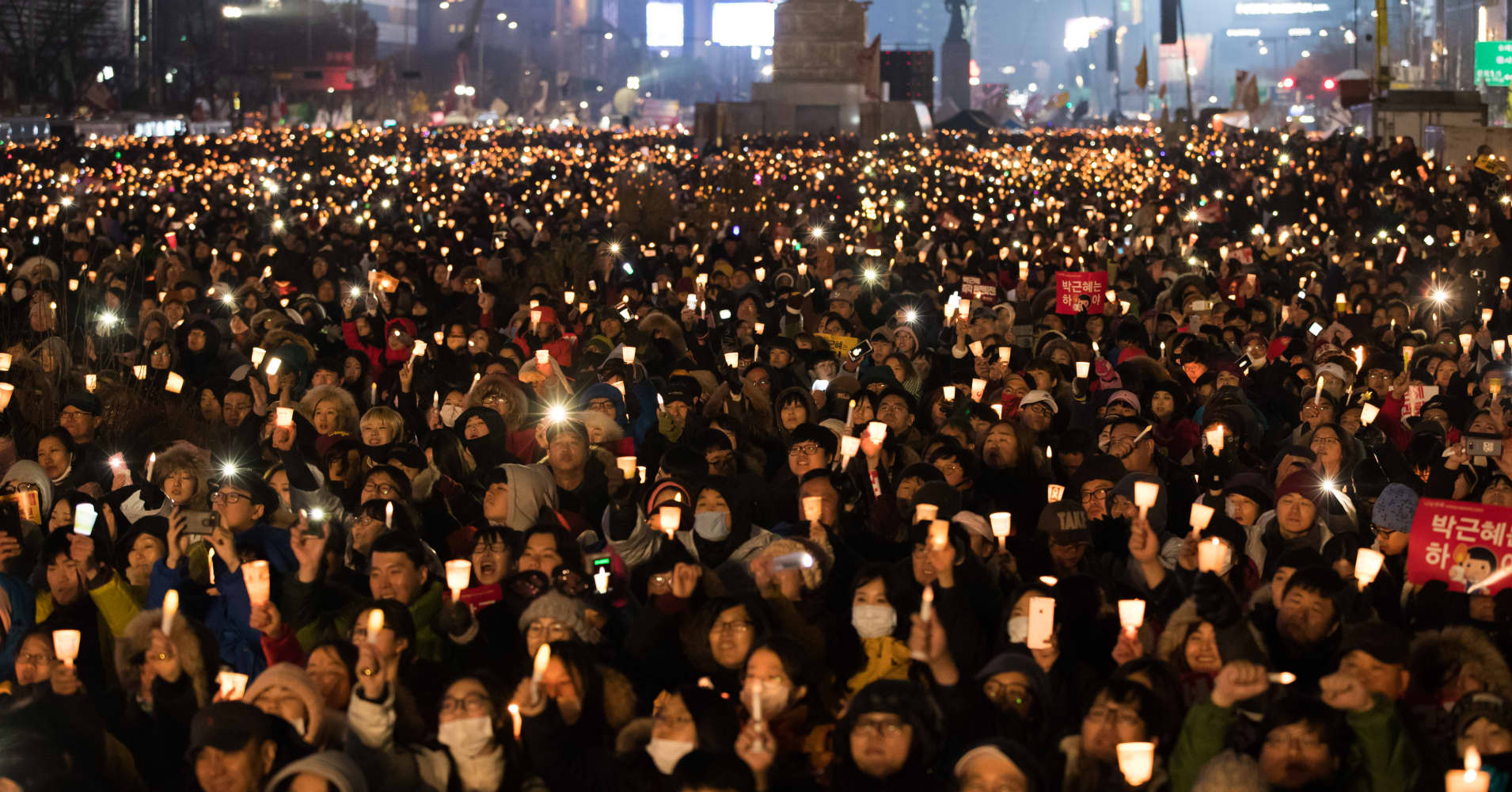the latest 72871 dcaad Hundred of thousands gather in South Korea for fifth week of protests  against President Park (2.09 9)