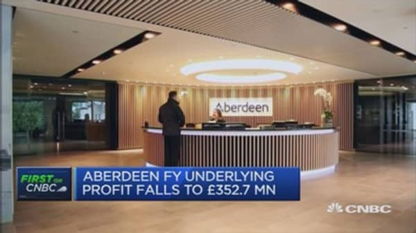 Brexit outflows have settled, now modest: Aberdeen CEO