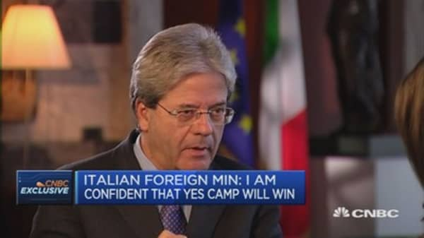 Gap very narrow in Italian referendum polls