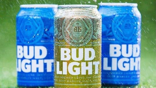 Bud Light Gold Super Bowl LI can
