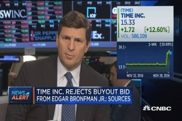 Time Inc. rejects buyout bid