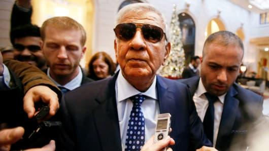 Iraq's Oil Minister Jabar Ali al-Luaibi arrives at a hotel ahead of a meeting of OPEC oil ministers in Vienna, Austria, November 28, 2016.