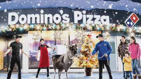Domino's Japan trains reindeer to deliver pizza