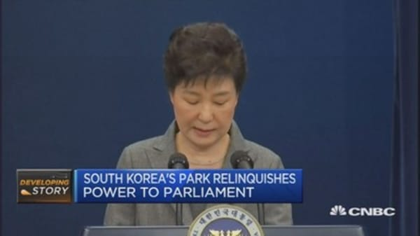 S Korea's Park asks parliament to find way for her to step down