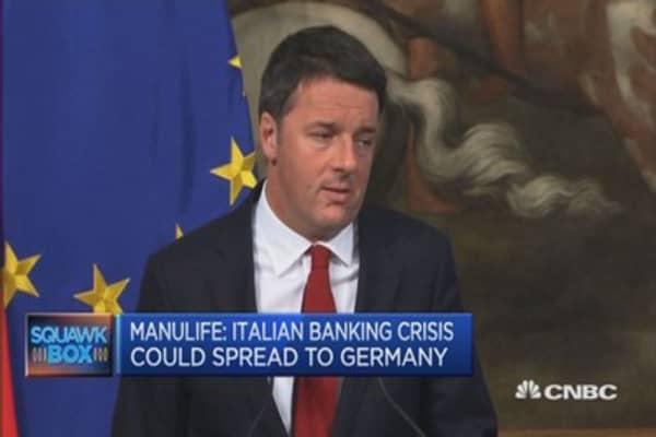 Manulife: Expect Renzi to lose the referendum