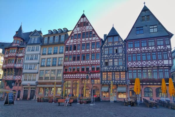 Frankfurt, Germany. Scott Keyes and his fiancee flew to Germany and Belarus for 60,000 United miles and $88 per person.