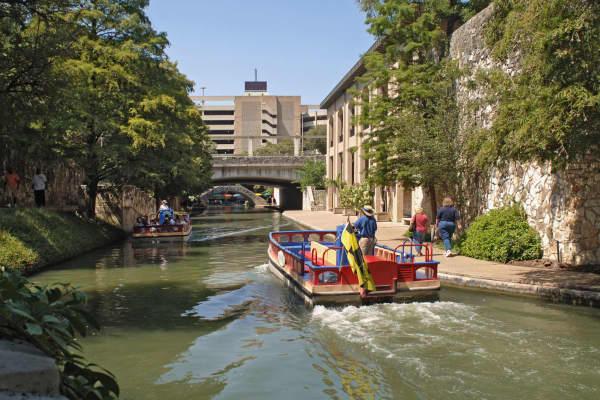 The Riverwalk in San Antonio.