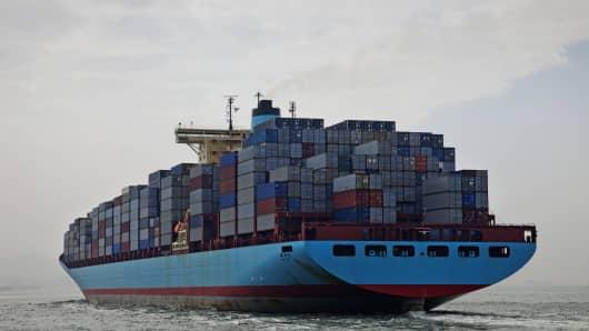 Container Ship, Hong Kong, China