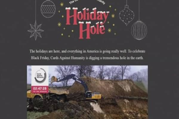 People paid Cards Against Humanity $100K to dig hole