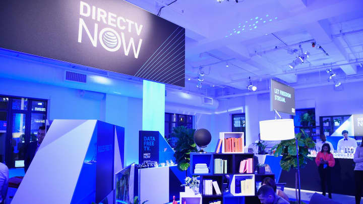 A view of the lounge during AT&T's celebration of the Launch of DirecTV Now at Venue 57 on November 28, 2016, in New York City