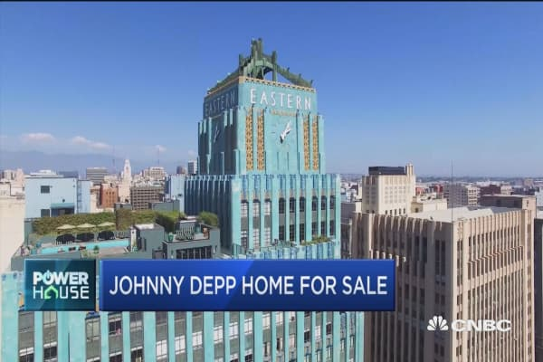 Johnny Depp's LA home for sale