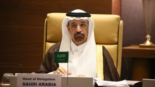 The Saudi Oil Minister Khaled al-Faleh.