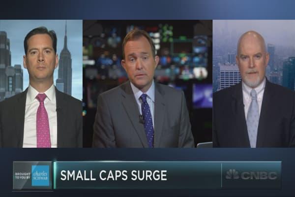 Small cap stocks' big winning streak to continue?