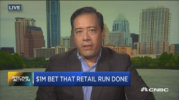 Options Action: $1M bet that retail run done