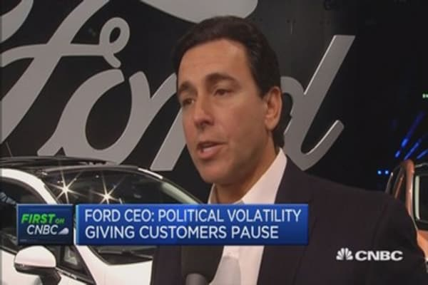 Ford CEO: Free trade is a high priority for us