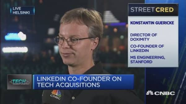 Certainly had acquisition interest in LinkedIn pre-Microsoft: Co-founder