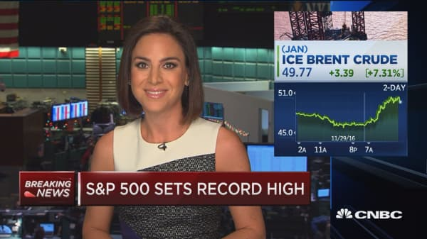 Christmas has come early not just for crude futures but also for the energy stocks: DeAngelis