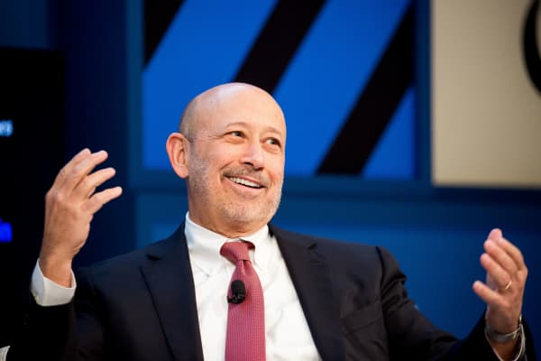 Lloyd Blankfein, chairman and chief executive officer of Goldman Sachs Group Inc.